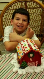 Aiden Miller from Orlando...had such fun making the gingerbread barn!!