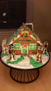 kiana, I am from Hoffman Estates IL and I made the Mutant Ninja Turtle Gingerbread house.