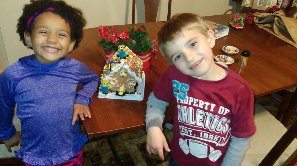 Hunter's & Zoie's Christmas time fun with MiMi